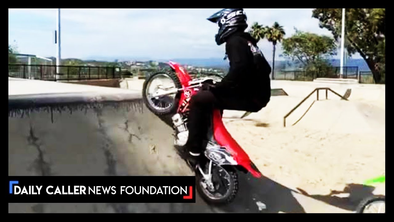 Dirt Bikers Take Over Sand-Filled Skateparks