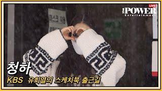 청하(ChungHa), 갑자기 내린 눈발에도 예쁨 (유희열의 스케치북 출근길 )