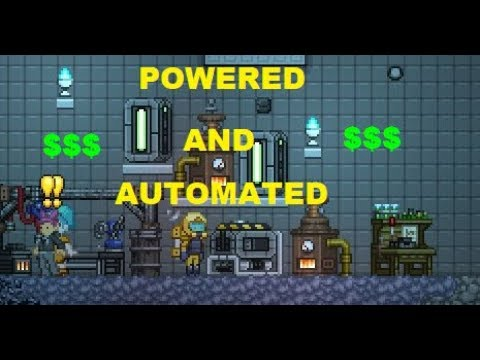 Getting rich in Starbound with Automated Farming - Frackin' Universe