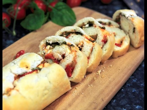 Pizza: How to Make Gluten Free Feta & Spinach Stromboli