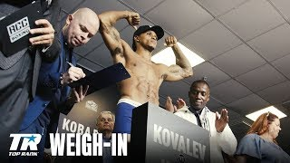 Kovalev vs Yarde: Weigh-in Archive