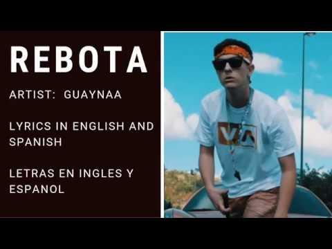 Rebota (English and Spanish Lyrics)