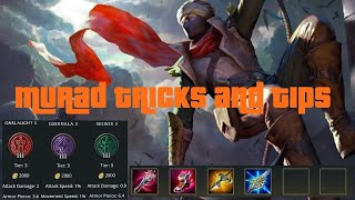 Arena of valor-Murad tricks and tips + runes and items