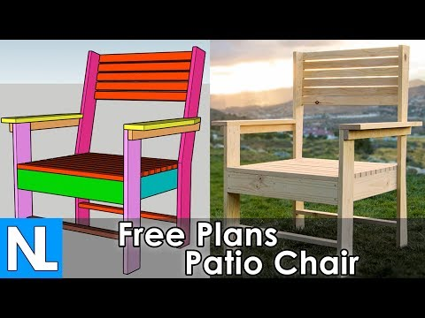 Free Patio Chair Instructions / Step By Step DIY Plans