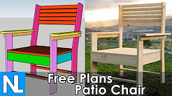 Free patio chair instructions ✓ simple Step by step DIY woodworking plans