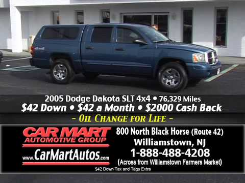 """$42 Down and $42 per Month"" Car Mart, Williamstown NJ"