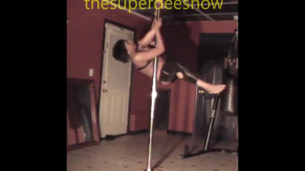 Pineapple doing Pole Trick 3, booty twerk and nip slip, oops