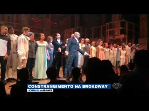Trump exige pedido de desculpas de atores da Broadway
