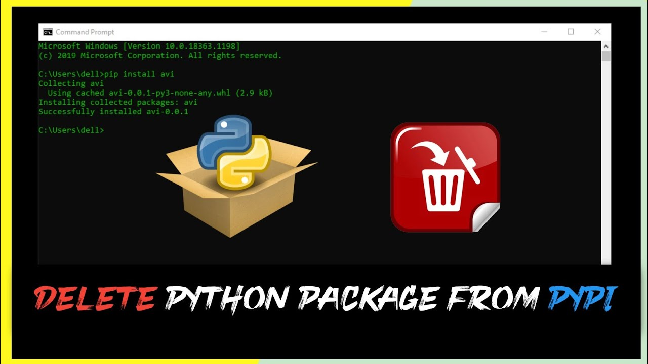 How to Delete A Package From Pypi || AviUpadhyay