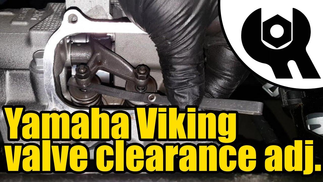 Yamaha Viking - valve clearance check & adjustment #1813