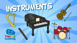 Aprende inglés. Los Instrumentos Musicales en inglés. Vídeos para niños
