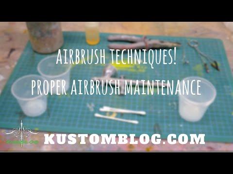 Airbrush Maintenance & Cleaning (Iwata Airbrushes & Automotive Paints)