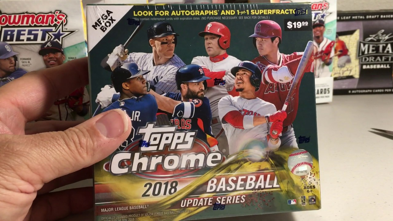 2019 Topps Baseball Cards Opening Series 45 Mega Box 5 Of 2018 Topps Chrome Update