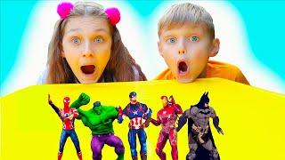 Супер герои учат цвета  вместе с Долгуниками