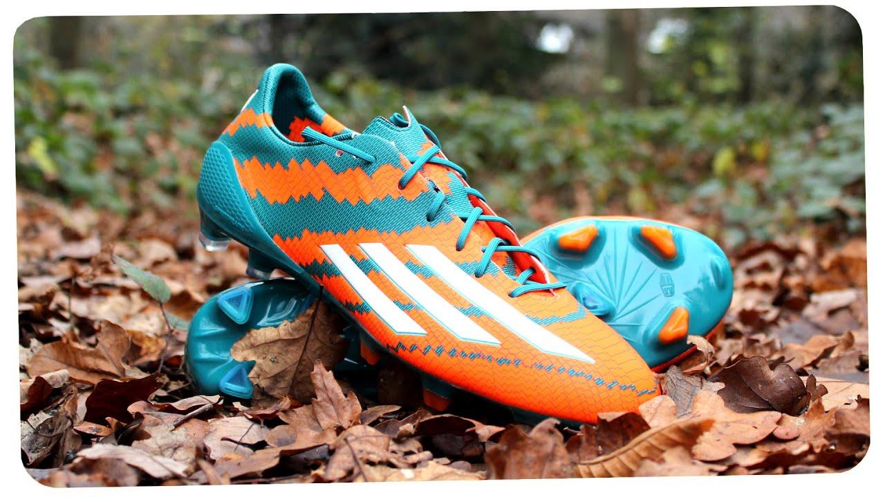 2014 15 Messi Boots Adidas F50 Adizero Mirosar10 Unboxing Youtube