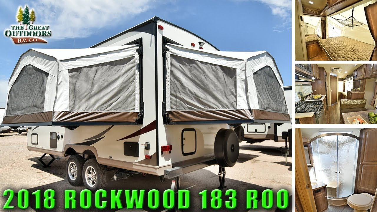 New Hybrid Expandable Rv 2018 Rockwood 183 Roo Pop Out Colorado Camper