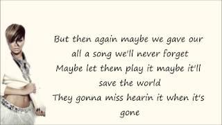 Rihanna - The Last Song Lyrics Video