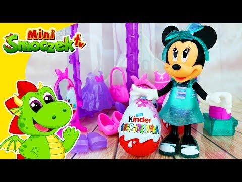Myszka Minnie Urodziny | Jajka Kinder Niespodzianki | Fashion Doll Lalka Zabawki | Filmik Dla Dzieci