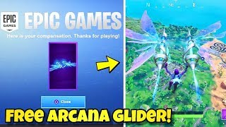 "*NEW* FREE ""ARCANA"" GLIDER In Fortnite! UNVAULTED EVENT ISSUES COMPANSATION GLIDER (FREE GLIDER)"