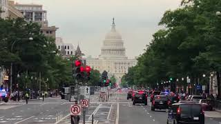 President Trump Motorcade heads to Capitol Hill to meet with Republicans