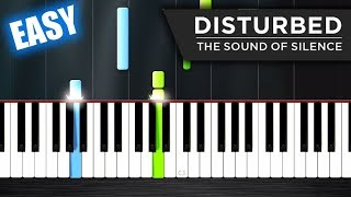 Download Disturbed - The Sound Of Silence - EASY Piano Tutorial by PlutaX Mp3 and Videos