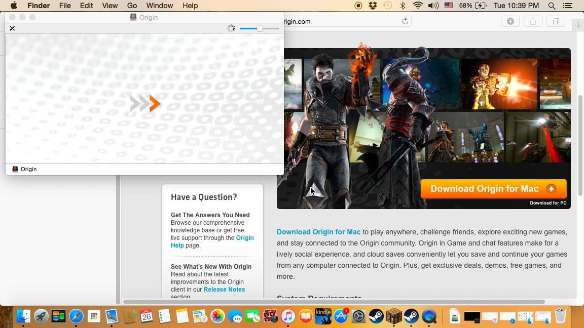 How to download Origin for MAC OS x APS 7