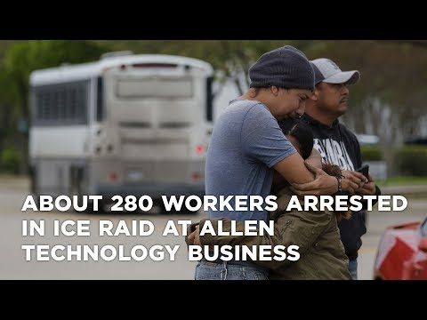 About 280 workers arrested in ICE raid at Allen technology business