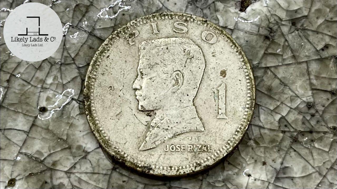 【Philippine Old Rare Coins】Restoration 1piso 1972 フィリピンの1ペソ磨き 鏡面仕上げ Polish ng barya