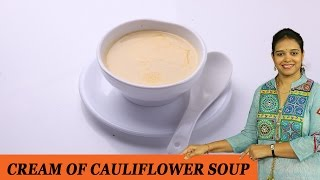 Cream Of Cauliflower Soup - Mrs Vahchef
