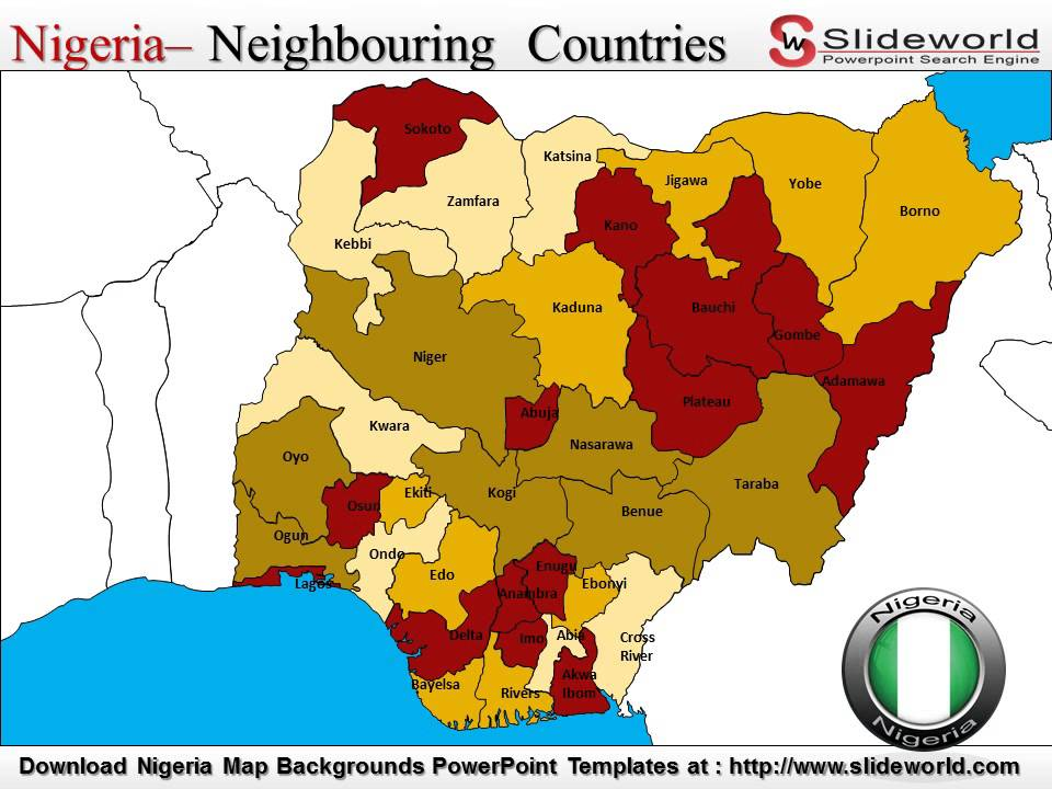 Nigeria Map Backgrounds PowerPoint Templates Slideworldcom - Nigeria map