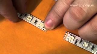 видео как соединить светодиодную ленту между