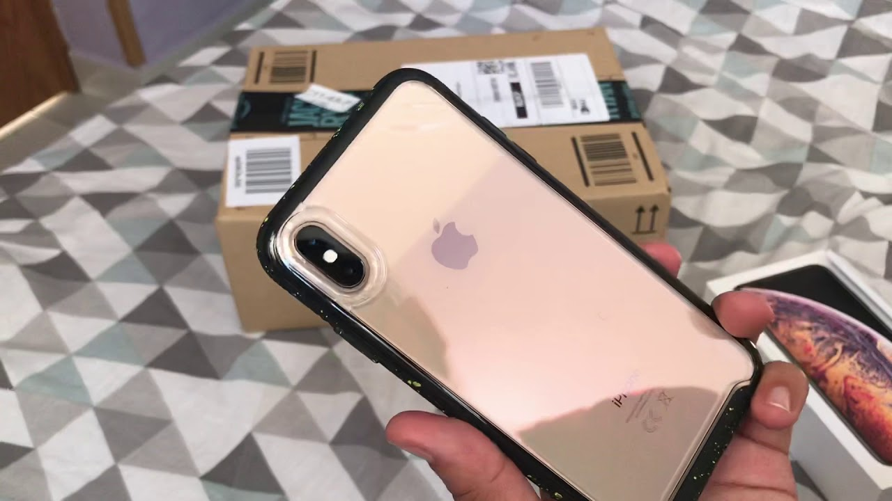 best website 7ca33 f3223 Unboxing de iPhone XS Max Gold - Otterbox Traction - Belkin Power House