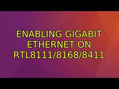 Ubuntu: Enabling Gigabit Ethernet On RTL8111/8168/8411