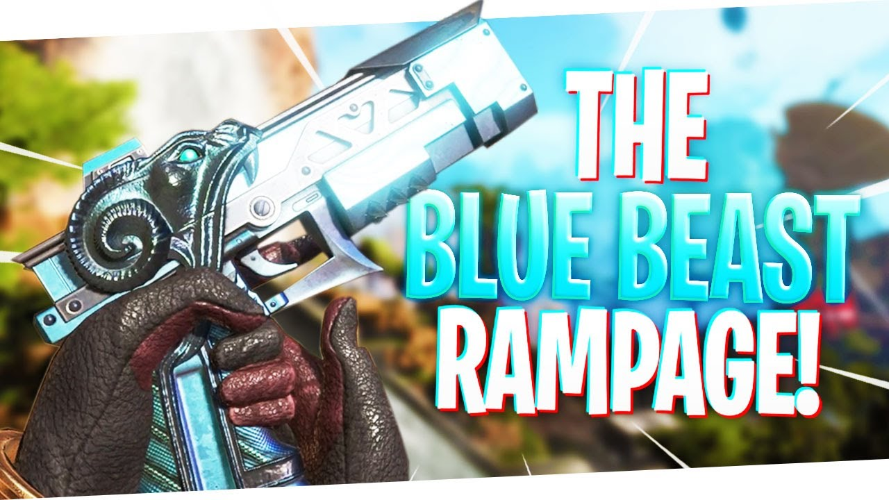 8 Kills in 90 Seconds w/ The BLUE BEAST RE-45 Skin! - PS4