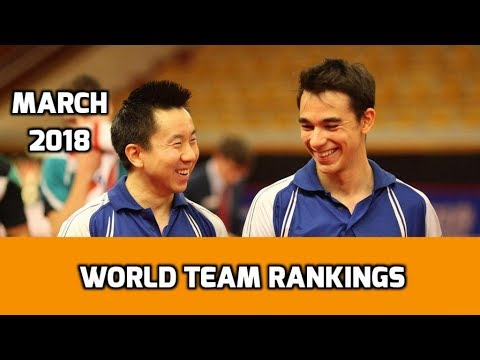 Table Tennis World Team Rankings | March 2018