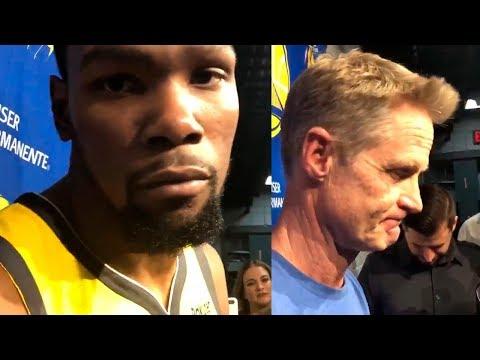 Steve Kerr on his ejection / Kevin Durant on calming down Steve Kerr | Warriors vs Blazers
