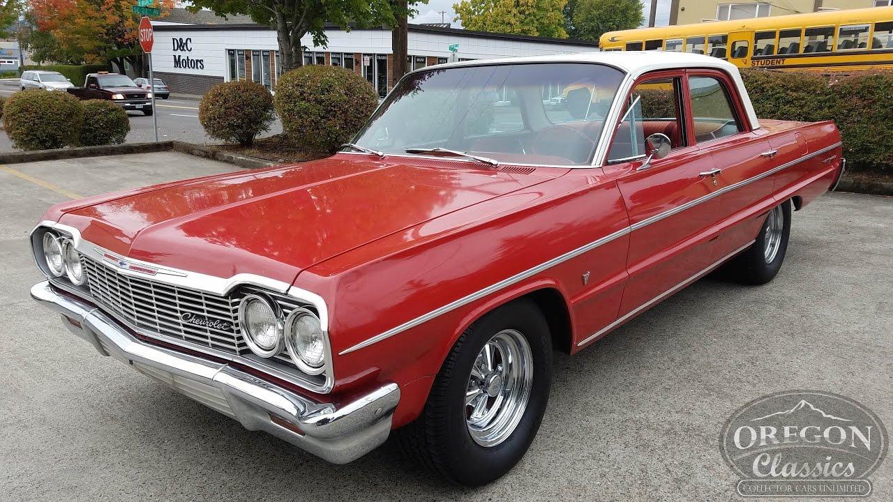 All Chevy chevy bel air 1964 : 1964 Chevrolet Belair V8 4-doors - YouTube