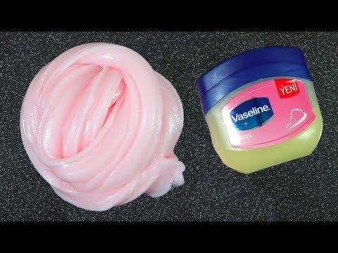 How to make jelly fluffy vaseline slime - DIY petroleum jelly slime - No Borax