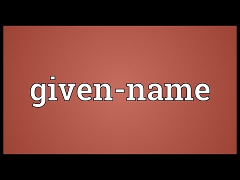 Given-name Meaning