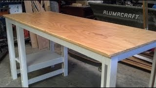Easy Single Sheet Plywood Desk