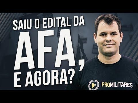 Saiu o edital da AFA, e agora?   Prof. Rodrigo Menezes