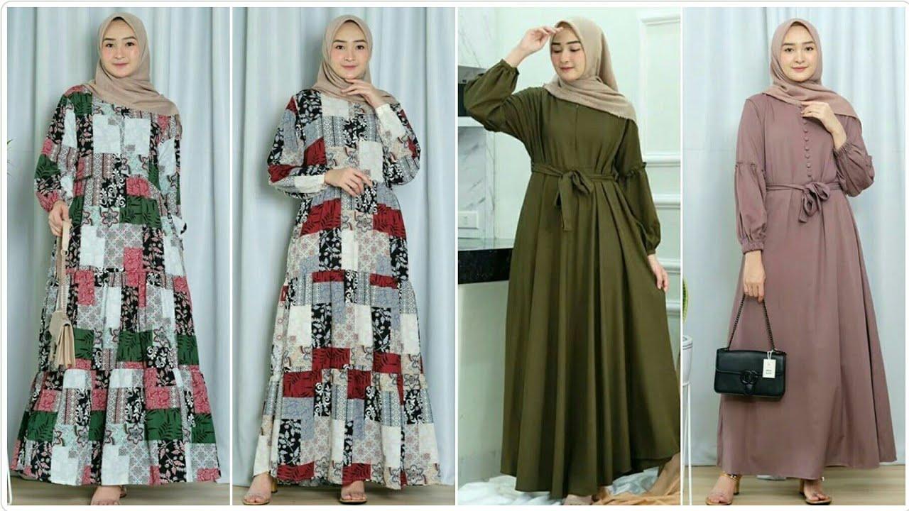 Trend Model Baju Gamis Homedress Terbaru Di Tahun 2020 2021 Cocok Buat Sehari Hari Youtube
