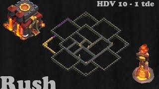 Clash of Clans Village - HDV 10 Rush 1 Tde