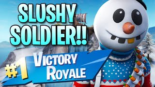 "NEW ""Slushy Soldier"" Skin!! (8 Frag Solo Victory) - Fortnite: Battle Royale Gameplay"