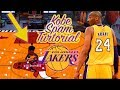 KOBE BRYANT BETWEEN THE LEGS DRIBBLE SPAM LEFT HANDED TUTORIAL - BECOME A DRIBBLE GAWD!!!