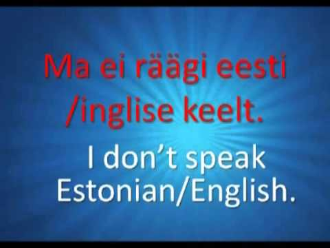 Learn Estonian online | Free Estonian lessons