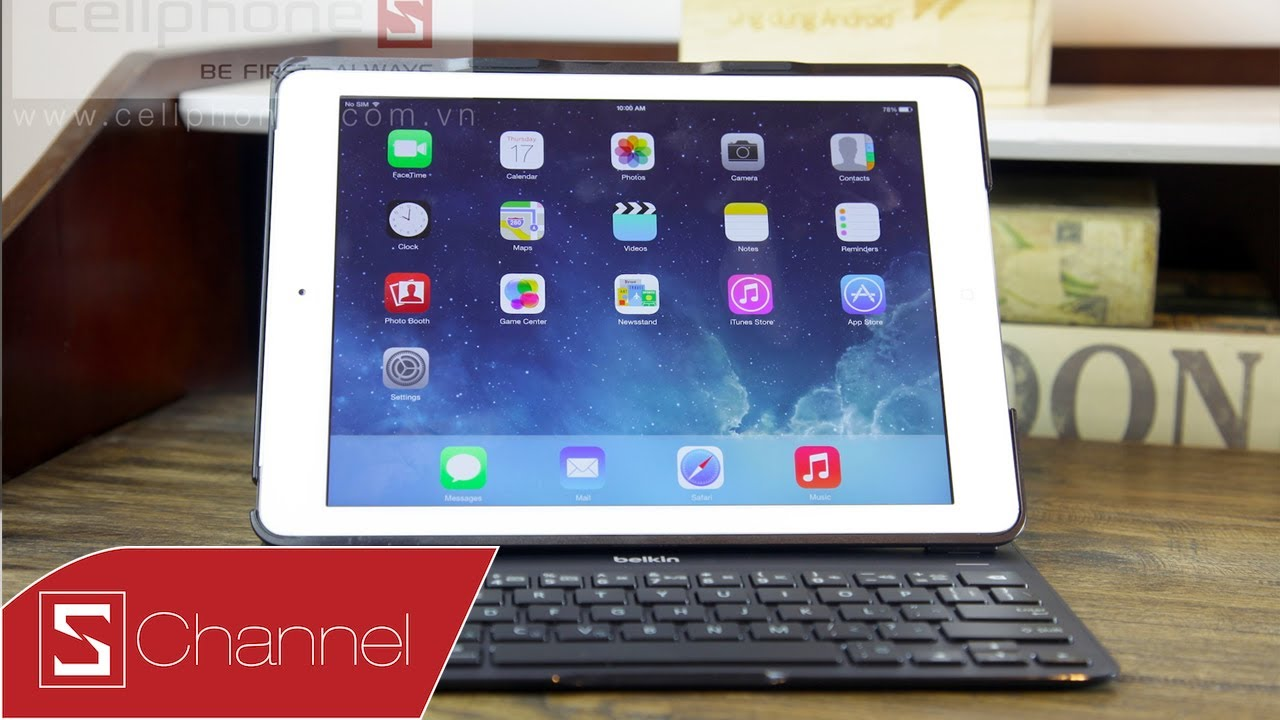 Schannel – Giới thiệu bao da bàn phím Belkin QODE dành cho iPad Air