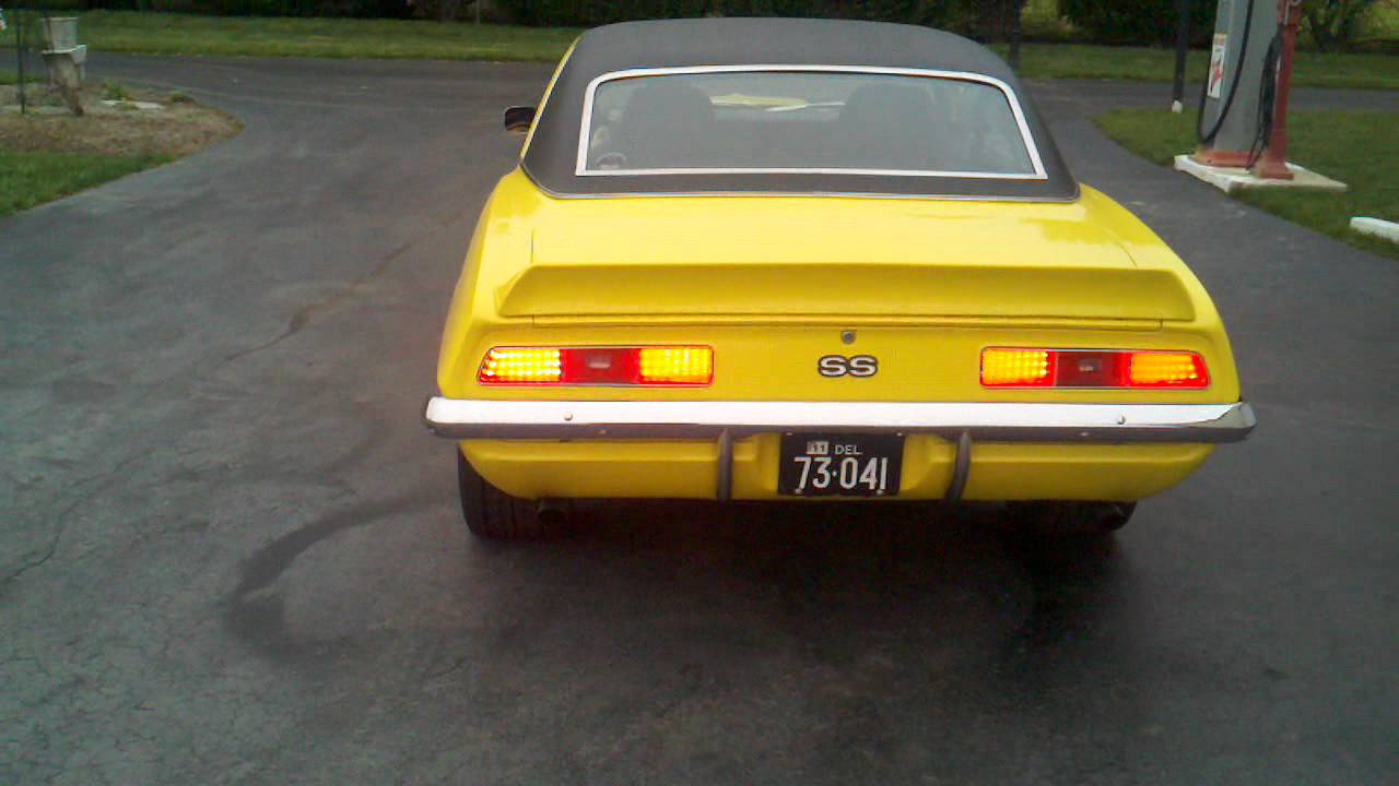 1969 Camaro Led Sequential Tail Lights And Exhaust Youtube