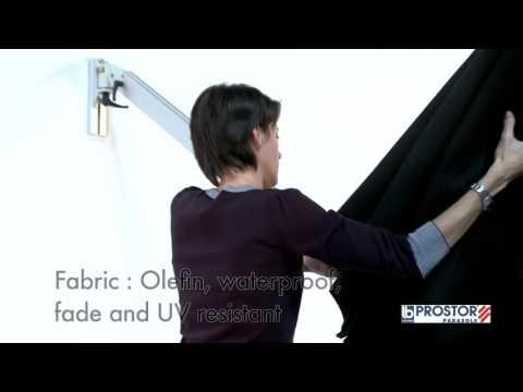 Parasol mural bras t lescopique prostor p4 youtube - Parasol mural castorama ...