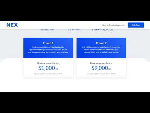 NEX ICO Registration and Decentralized Exchange Review With Passive Income!